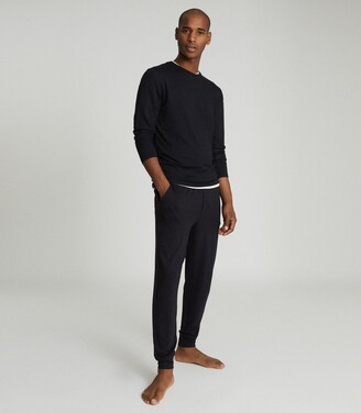 Reiss Ward - Jersey Tracksuit Joggers in Charcoal