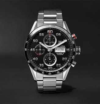 Tag Heuer Carrera Automatic Chronograph 43mm Polished-Steel Watch, Ref. No. Cv2a1r.ba0799