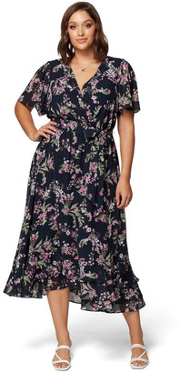 Forever New Tillie Curve Pleated Maxi Dress