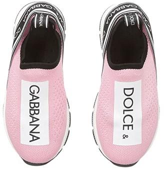 Dolce & Gabbana Jersey Slip-On Sneaker (Toddler/Little Kid) (Rose/White) Girl's Shoes
