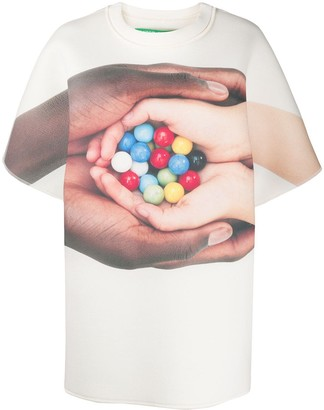 Benetton photo print oversized T-shirt