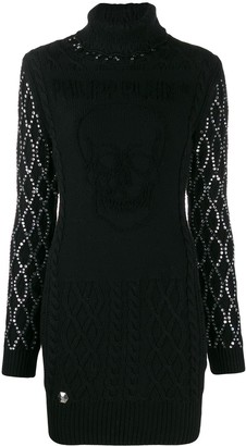 Philipp Plein embellished sleeves knitted dress