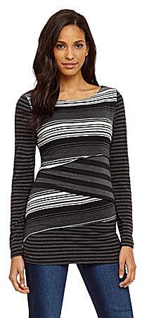 Calvin Klein Layered Stripe Knit Top