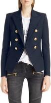Balmain Double Breasted Wool Blazer