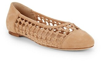 Etienne Aigner Eden Knotted Suede Flats
