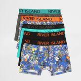 River Island Blue Botanical Print Hipster Multipack
