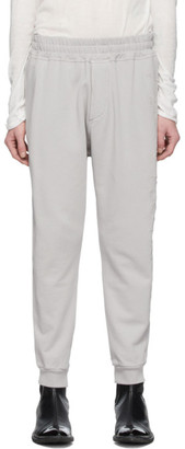 Haider Ackermann Grey Embroidered Jogging Lounge Pants
