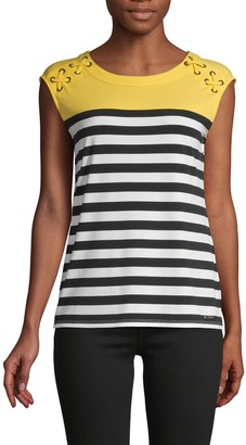 Calvin Klein Striped Roundneck Top