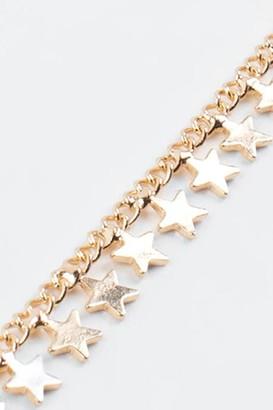 francesca's Rennie Star Drop Chain Choker - Gold