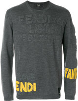 Fendi branded stitch sweater