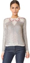 Ashish Long Sleeve Silver Stars Top