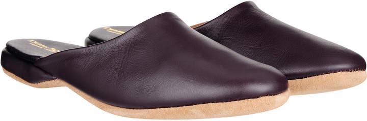 Derek Rose Men's Open-Back Leather Slipper