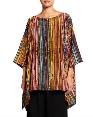 eskandar Striped Silk Shirt