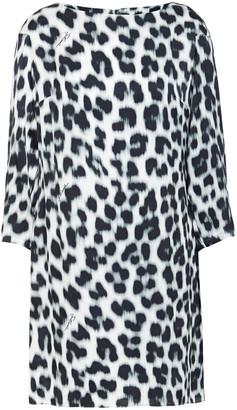 Just Cavalli Leopard-print Satin Mini Dress