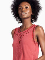 Lucky Brand Embroidered Washed Tank