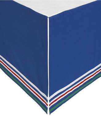 ED Ellen Degeneres Doodle Dog Stripe Crib Skirt Bedding