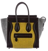 Celine Wool Micro Luggage Tote