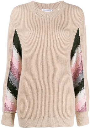 J.W.Anderson Striped Detail Knitted Sweater