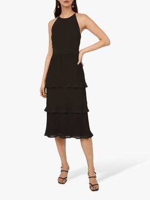 Warehouse Tiered Midi Dress