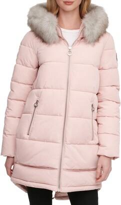 DKNY Women's Poly Alternative Coat