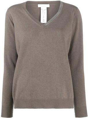 Fabiana Filippi Bead-Trimmed V-Neck Sweater