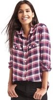 Gap Soft plaid combo boyfriend shirt