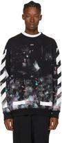 Off-White Black Brushed Diagonal Galaxy Sweatshirt