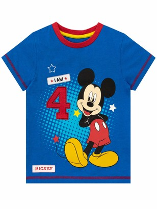 Disney Boys T-Shirt Mickey Mouse Blue 3 to 4 Years