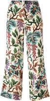 Philosophy Di Lorenzo Serafini - printed cropped trousers - women - Silk/Linen/Flax - 38