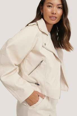NA-KD Balloon Sleeve Biker PU Jacket