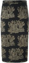 No.21 metallic embroidery skirt