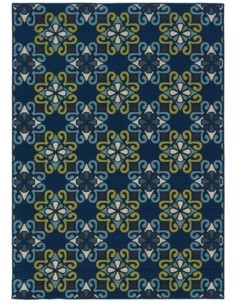 "Jhb Design Bella BEL06 Blue 7'10"" x 10'10"" Area Rug"