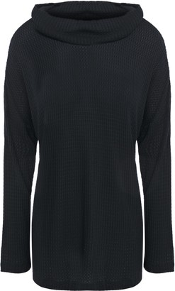 Eberjey Ula Draped Waffle-knit Stretch-modal Pajama Top