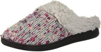 Dearfoams Women's Tweed Knit Clog in Wide Width Slipper