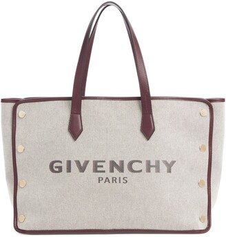 Givenchy Medium Canvas & Leather Shopper