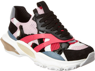 Valentino Chunky Leather & Suede-Trim Sneaker