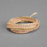 Ccc Chain Wrap Bracelet With Crystal Beads