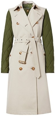 Burberry Rothes 2-Piece Quilted Warmer & Sleeveless Trench Coat