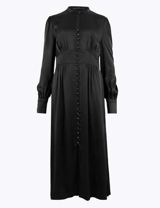 Marks and Spencer Satin Keyhole Fit & Flare Midi Dress