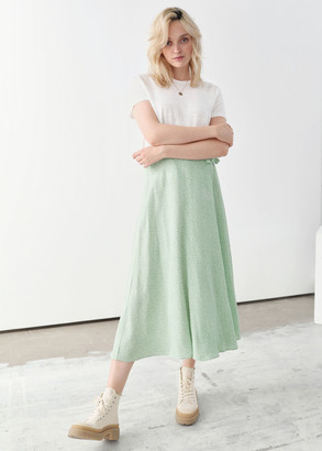 And other stories Tie Wrap Midi Skirt