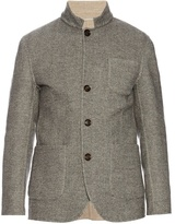 Brunello Cucinelli Wool and cashmere-blend herringbone jacket