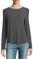 Generation Love Pauline Long-Sleeve Lace-Up Sweater