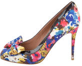 RED Valentino Woven Floral Printed Pumps