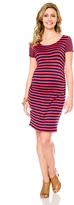 Motherhood Jessica Simpson Striped Maternity Dress