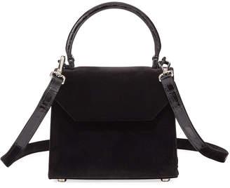 Nancy Gonzalez Lily Mini Velvet Top-Handle Bag