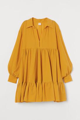 H&M Voluminous Tunic - Yellow