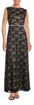 Alex Evenings Petite Embellished Waist A-Line Gown