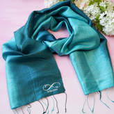 Sparks Clothing Personalised Silk Anniversary Infinity Scarf
