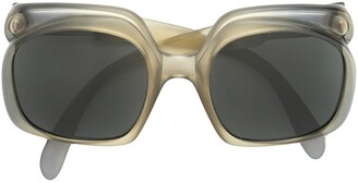 Christian Dior Pre-Owned Oversized Frame Sunglasses