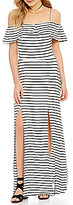GB Off-The-Shoulder Striped Maxi Dress